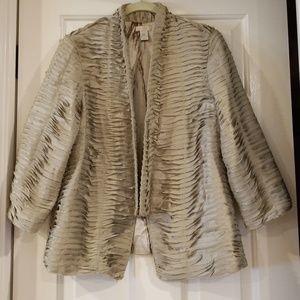 CHICO'S Jacket 100% Polyester, Size Medium